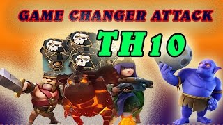 getlinkyoutube.com-Th10 Strategy Lavaloon Bowler ! 3 Star Attack ! Clash Of Clan