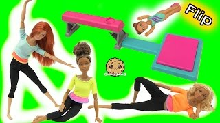 getlinkyoutube.com-Gymnastic Flip In Air Girl + Most Poseable Doll EVER Made To Move Barbie