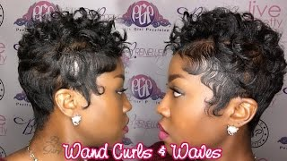 getlinkyoutube.com-Wand Curls on Short Hair| Waves
