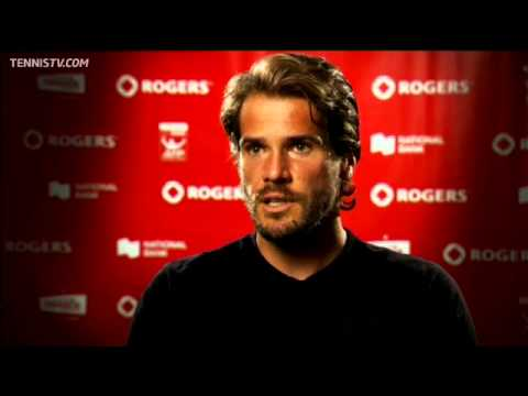 Haas about his win over Nalbandian at the 2012 Rogers Cup