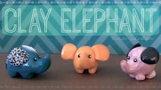getlinkyoutube.com-Elephant - Polymer Clay Charm - How To