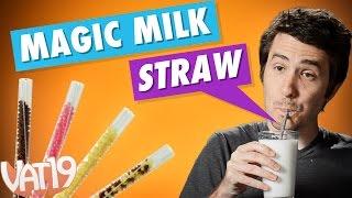 getlinkyoutube.com-Magic Milk Straws with Flavor Beads