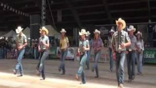 getlinkyoutube.com-Steve Earle line dance - WILD HURRICANE - Voghera Country Festival 2010