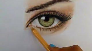 getlinkyoutube.com-Tutorial: Cómo dibujar ojos con lápices de colores