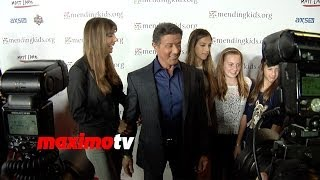 "getlinkyoutube.com-Sylvester Stallone and Family Attend Mending Kids ""Rock N' Roll All-Star Event"" Red Carpet"