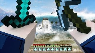 getlinkyoutube.com-REALISTIC TSUNAMI IN MINECRAFT | Minecraft - Mod Battle Challenge