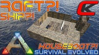 getlinkyoutube.com-ARK: Survival Evolved Rafts!?!  SHIPS, HOUSEBOATS,  FLOATING CITY?!?!