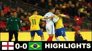 England vs Brazil 0-0 - Extended  Highlights - Friendly 14/11/2017