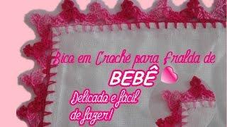 getlinkyoutube.com-BICO EM CROCHÊ PARA FRALDA DE BEBÊ