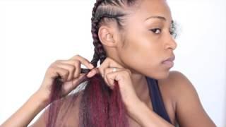 getlinkyoutube.com-Easy Feed-in Cornrows with Kanekalon Hair