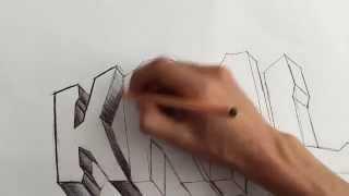 getlinkyoutube.com-En Basitinden Graffiti Yapımı  - Şekilli Yazı Yazmak