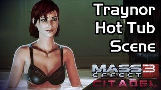 getlinkyoutube.com-Mass Effect 3 - Citadel DLC - Traynor Hot Tub Scene (Female Shepard / Romance)