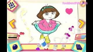 getlinkyoutube.com-Online Dora The Explorer Games - Dora The Explorer Painting Games