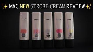getlinkyoutube.com-✨맥 스트롭크림 5종 자세한 발색+비교/사용법✨ Mac New Strobe Cream Review | WOORIN