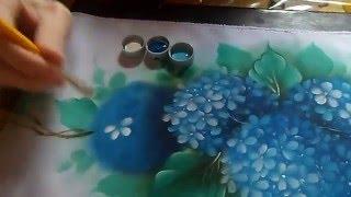 getlinkyoutube.com-Fábio Marques - Pintando hortênsias - painting hydrangeas - покраска гортензии