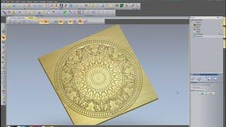 getlinkyoutube.com-V-Bit carving a detailed pattern using ArtCAM