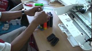 getlinkyoutube.com-Infus Printer Canon MG2570 MG 2570 Ciss Tinta D ink