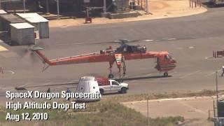SpaceX Testing - Dragon Drop Test (HD) width=