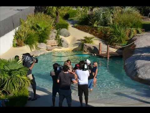 Empresa de piscinas de arena compacta natursand Piscina arena compactada