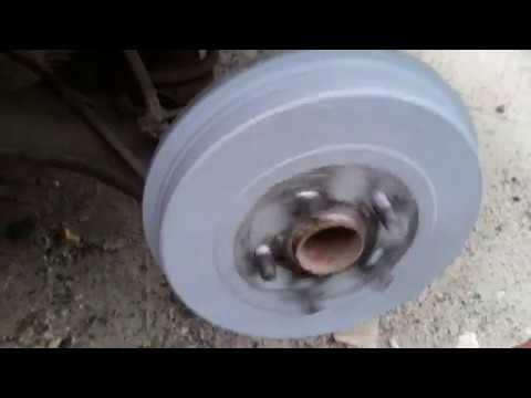 Как снять тормозной барабан на понтиак вайб