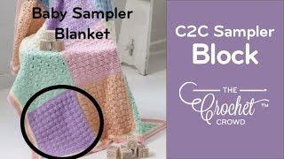 getlinkyoutube.com-How to Crochet A Baby Blanket: Block 1 Sampler