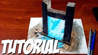 getlinkyoutube.com-How to Draw a 3D Magic Portal