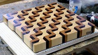 getlinkyoutube.com-Making a 3D end grain cutting board #3