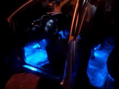 Подсветка салона Nissan Note, перед и зад