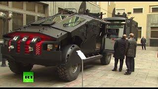 getlinkyoutube.com-FSB Batmobile? Putin inspects Security Service special op vehicles
