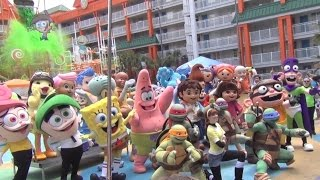 getlinkyoutube.com-Nickelodeon Hotel celebrates 10th birthday with special character appearances