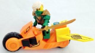 getlinkyoutube.com-YG 닌자고 그린닌자 로이드와 오토바이 바이크 레고 짝퉁 조립기 Lego knockoff ninjago roid bike