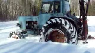 getlinkyoutube.com-MTZ 82 in deep snow (crusty)