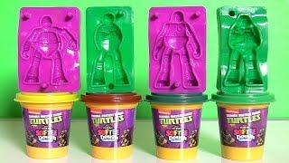 getlinkyoutube.com-Softee Dough Teenage Mutant Ninja Turtles Figurine Maker Nickelodeon PlayDoh TMNT by FunToys