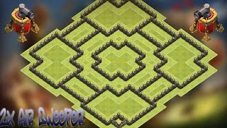 getlinkyoutube.com-Clash of Clans - TH10 double air sweeper war base