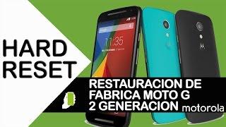 getlinkyoutube.com-Motorola G Segunda Generacion  ( HARD RESET ) Restauración De Fabrica HD