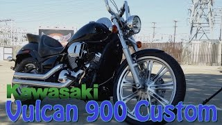 getlinkyoutube.com-Install SuperBrace on Kawasaki Vulcan 900 Custom