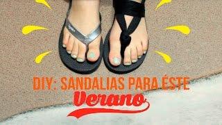 getlinkyoutube.com-DIY SANDALIAS PARA EL VERANO♡