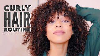 getlinkyoutube.com-Curly Hair Routine | Low Shrinkage Wash & Go