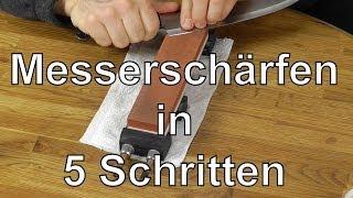 getlinkyoutube.com-Messer schärfen auf Schleifsteinen in 5 Schritten - Anleitung: Messer richtig scharf schleifen
