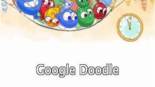 New Year's Eve 2016/2017 Google Doodle