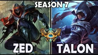 SKT T1 Faker ZED vs TALON - Rank #39 Challenger Korea