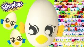 getlinkyoutube.com-SHOPKINS SEASON 4 Eggchic Play-Doh Surprise Eggs! Limited Edition Hunt -Two 12 Packs!