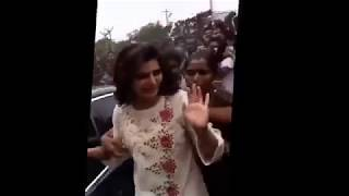 Actress Samantha Boobs Press at Public Crowd in Madurai Today