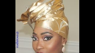 getlinkyoutube.com-African Wedding Ascort Gele Take aA Bow Gele And Makeup