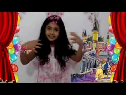 video para invitación de cumpleaño infantil 4 añitos iara serena