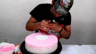 getlinkyoutube.com-Decorado espejo de crema rosa