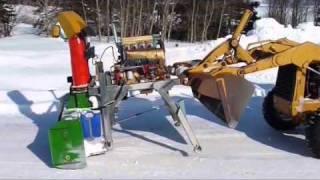 getlinkyoutube.com-Deutz powered JD Snow Blower from Hell 2009
