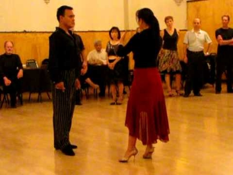 Argentine tango Class Sacada With Change of Direction 1
