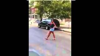 getlinkyoutube.com-Girl caught boyfriend cheating then goes BAD with a Bat