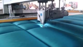 getlinkyoutube.com-FALCON - Double Needle Quilting Machine - UPHOLSTERY
